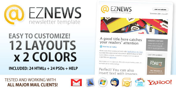 EZ News Newsletter Template - Newsletters Email Templates