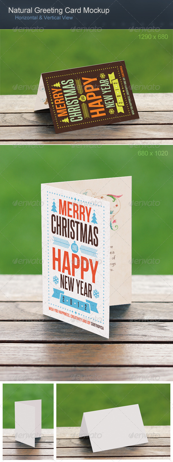 Natural Greeting Card Mockup - Miscellaneous Print