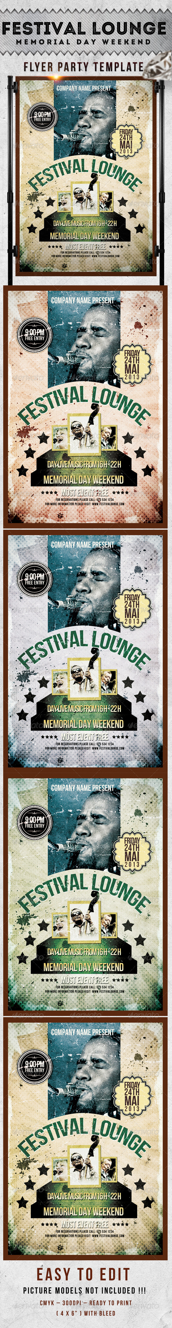 Festival Lounge Flyer Template - Events Flyers