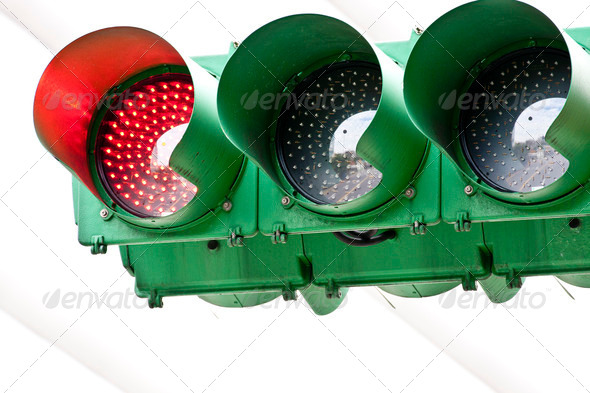 traffic red light - Stock Photo - Images