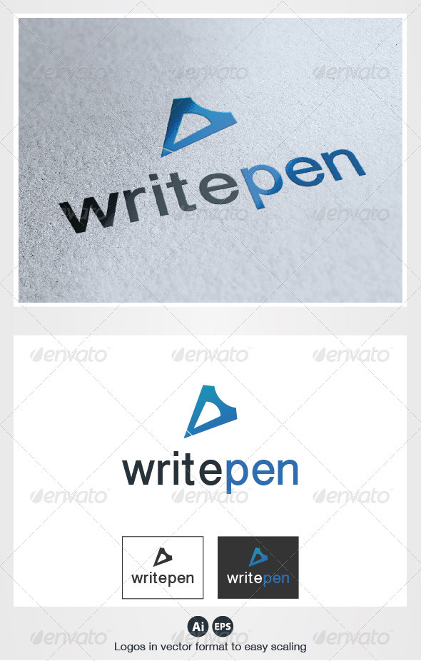 GraphicRiver Write Pen Logo 2772461