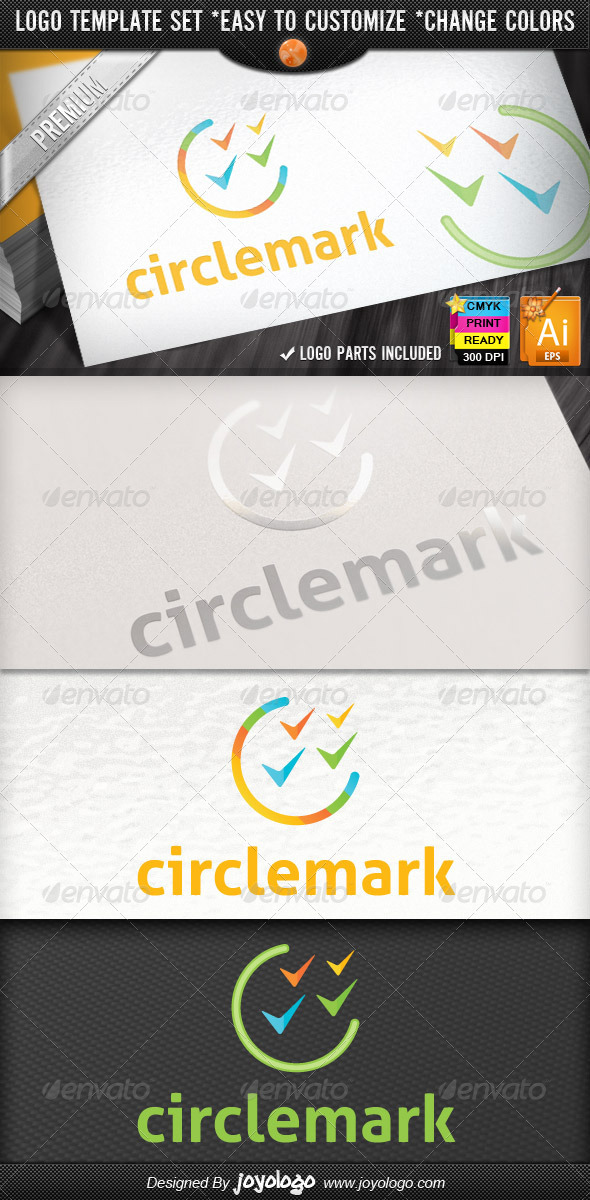 Circle Check Marks Business Marketing Logo Design - Symbols Logo Templates