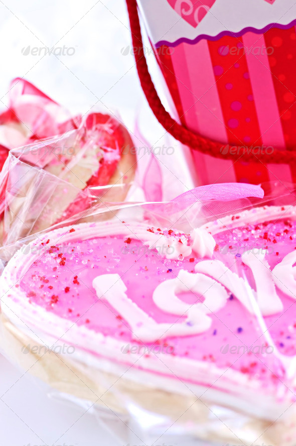 Valentines Cookies - Stock Photo - Images