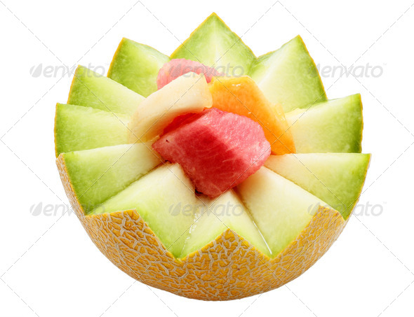 Postre de fruit - Stock Photo - Images