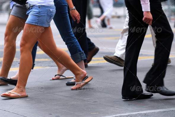 People Walking - Stock Photo - Images