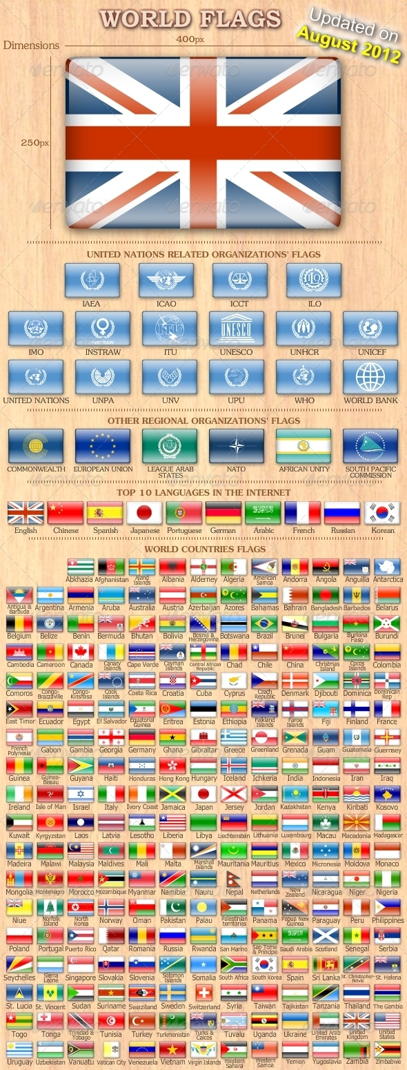 GraphicRiver 254 Flags of the World 180180