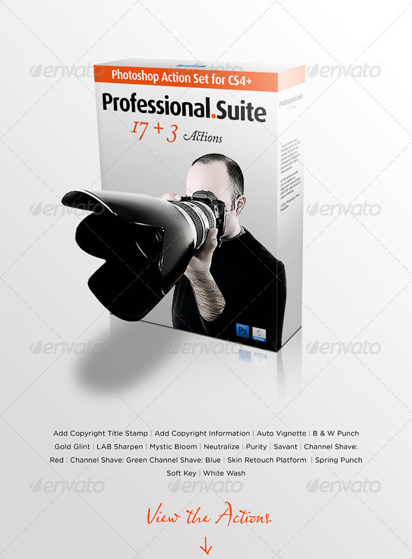Professional Photography Action Set - Photo Effects Actions