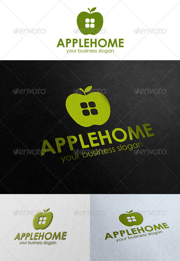 Apple Home Logo - Buildings Logo Templates