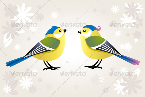 Cute cartoon bird - Animals Characters