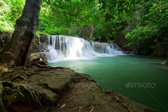 Huai Mae Khamin Waterfall - Stock Photo - Images