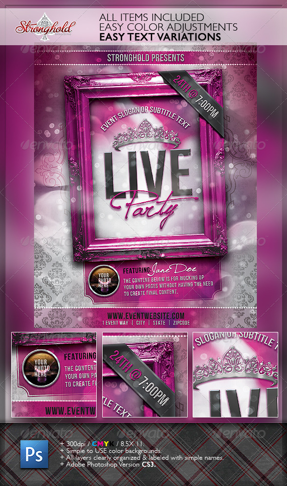 Live Party Flyer Template - Events Flyers