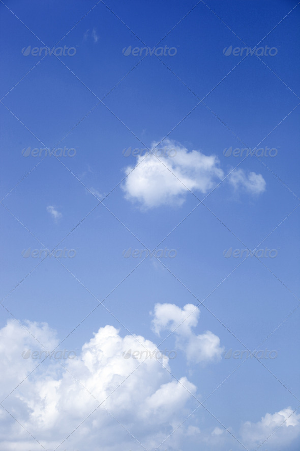 Sunny sky background - Stock Photo - Images