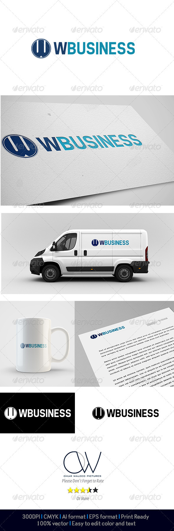W business Logo - Letters Logo Templates