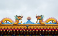 Twin dragon on the china temple roof - PhotoDune Item for Sale