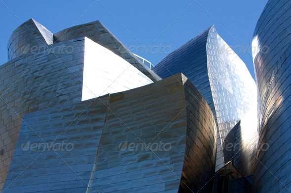Detail of  Guggenheim Museum, Euskadi, Spain - Stock Photo - Images