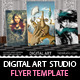 Digital Art Studio & Gallery Flyer PSD Vol.2 - GraphicRiver Item for Sale
