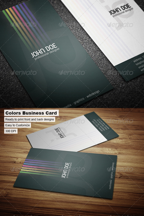 GraphicRiver Colors Business Card 43172