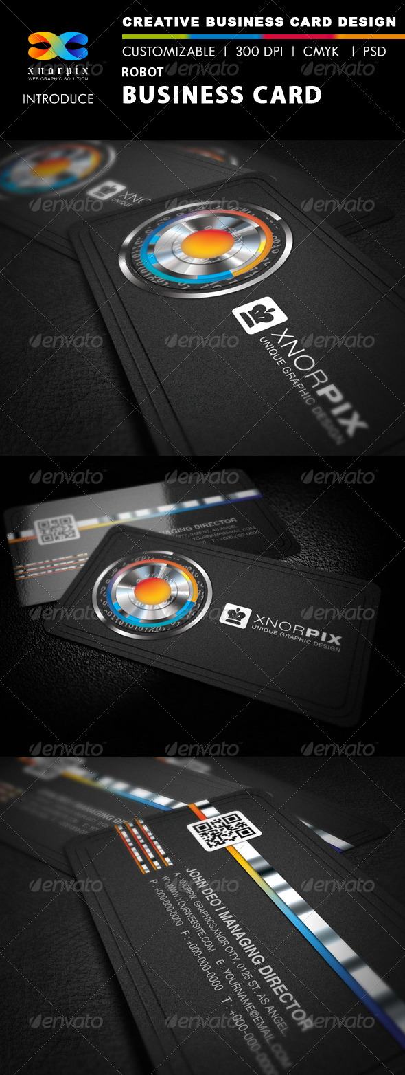 Robot Business Card - Corporate Business Cards