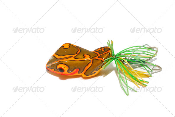 Artificial bait fishing - Stock Photo - Images