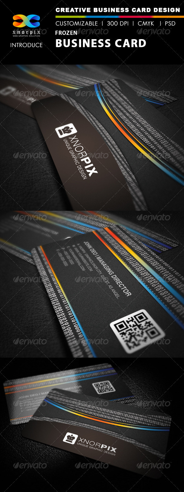 Frozen Business Card - Corporate Business Cards