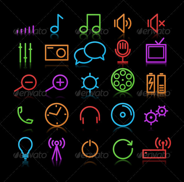 Multimedia Icons - Conceptual Vectors