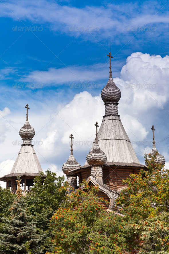 wooden churches of Russia - Stock Photo - Images