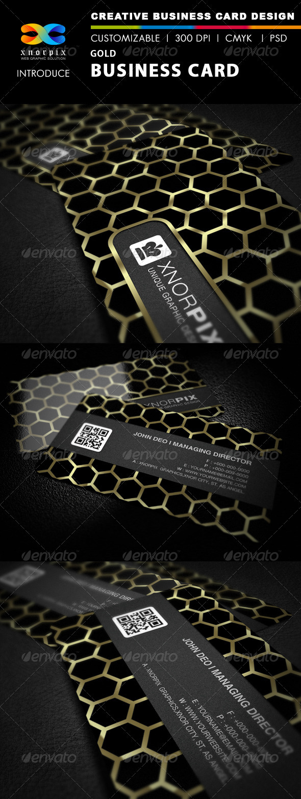 Gold Business Card - Corporate Business Cards