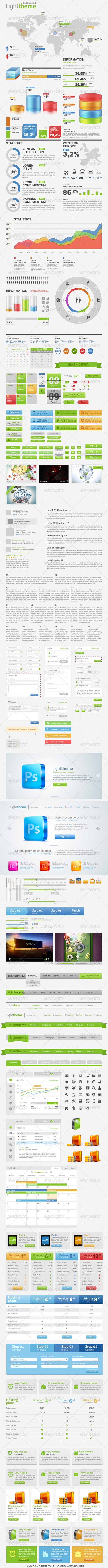 Light Theme Big Pack Web Constructor 1.0 - User Interfaces Web Elements
