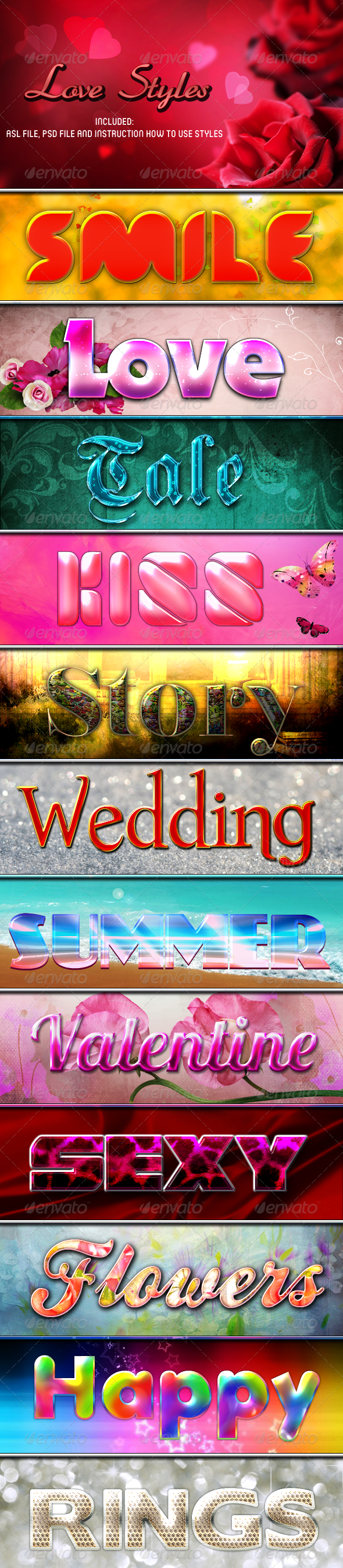 Love Styles - Text Effects Styles