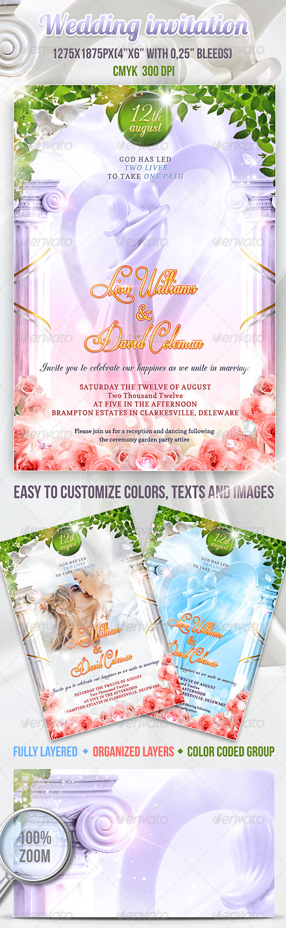 GraphicRiver Wedding Invitation PSD Template 2775418