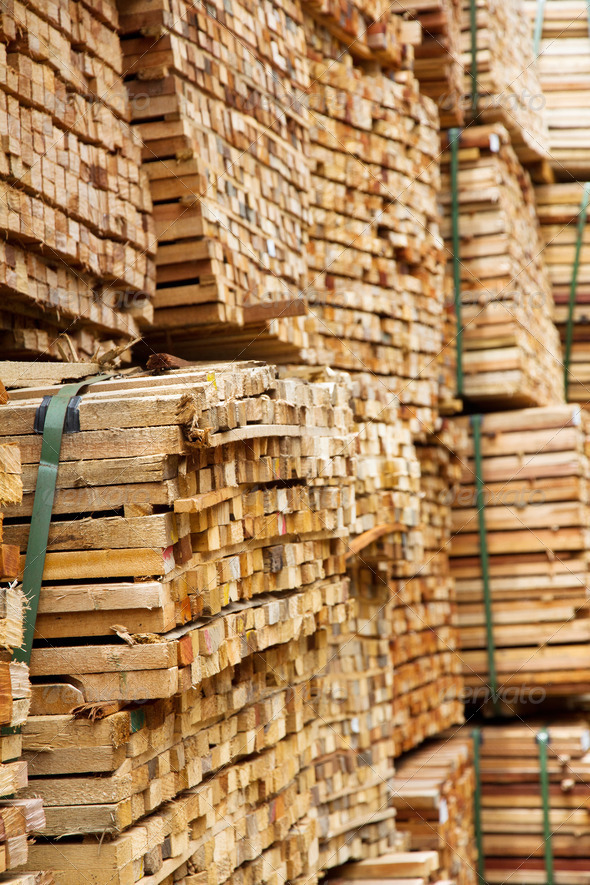 stack of timber wood  - Stock Photo - Images