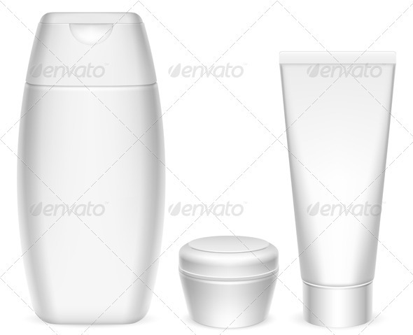Cosmetics Containers - Objects Vectors