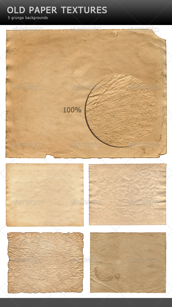 Old paper textures - Backgrounds Graphics