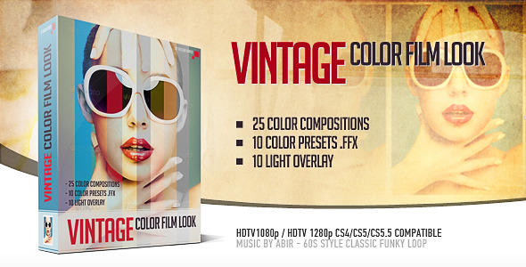 After Effects Project - VideoHive Vintage Color Film Look 2760984