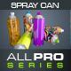 3D Spray Can Render 设计素-Graphicriver中文最全的素材分享平台