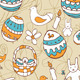 Easter Child Scribbles Seamless Background - GraphicRiver Item for Sale