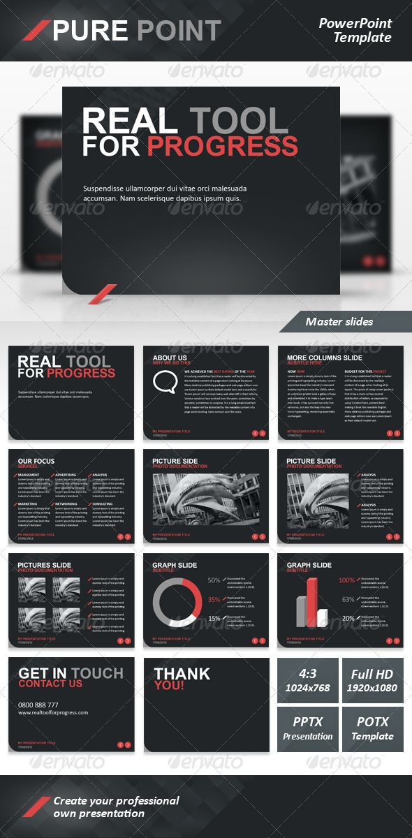 Pure Point PowerPoint Template - Powerpoint Templates Presentation Templates