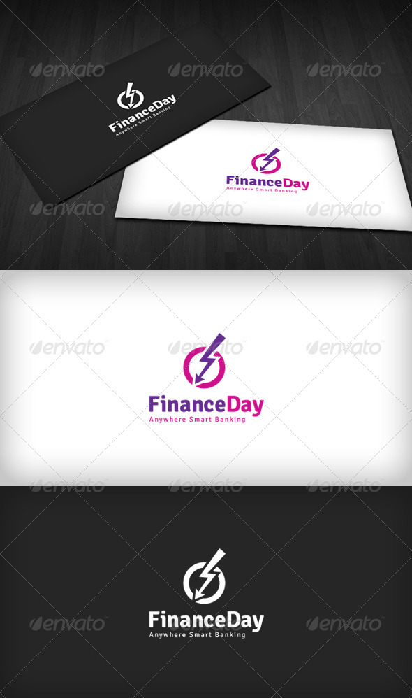 Finance Day Logo - Vector Abstract