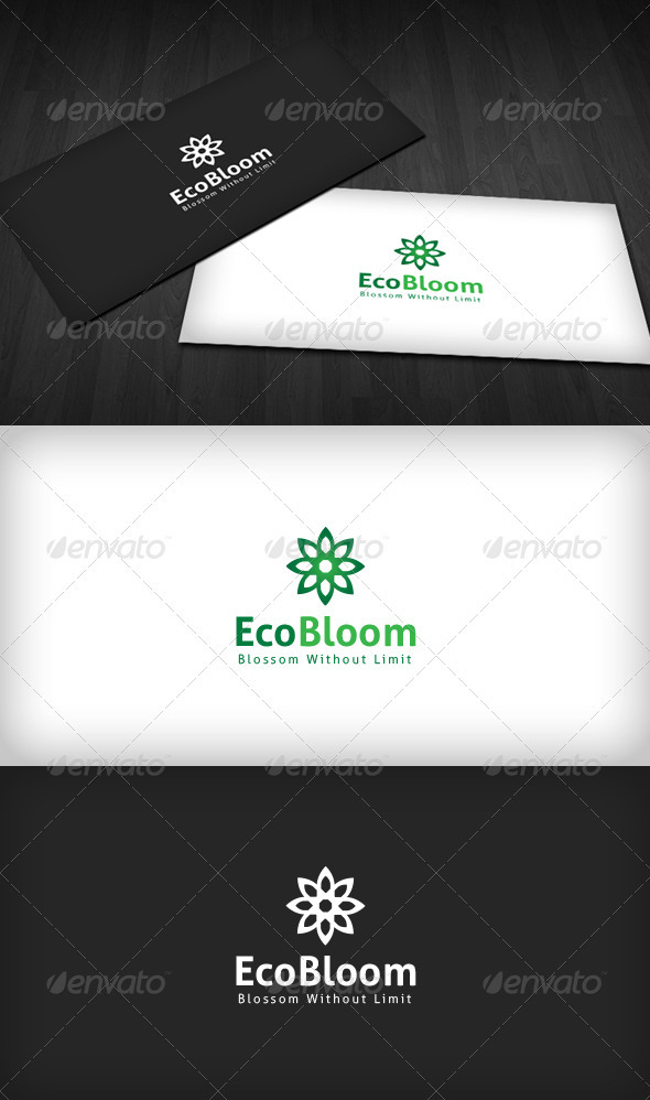 Eco Bloom Logo - Vector Abstract