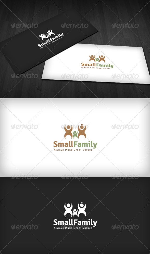 Small Family Logo - Humans Logo Templates
