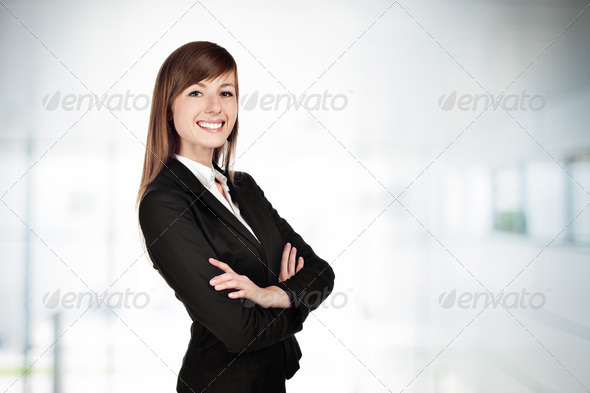 Businesswoman smiling - Stock Photo - Images