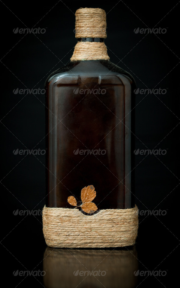 Hand made decorated bottle - Stock Photo - Images