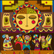 Ethnic People Sun Background - GraphicRiver Item for Sale