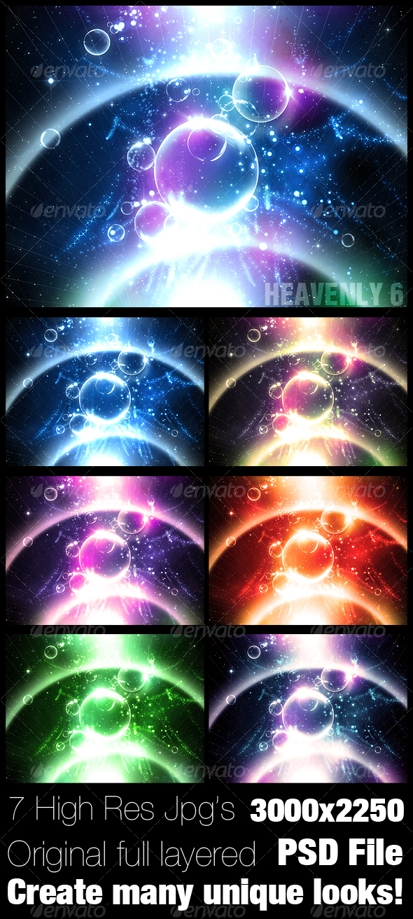Heavenly Background 6. - Backgrounds Graphics