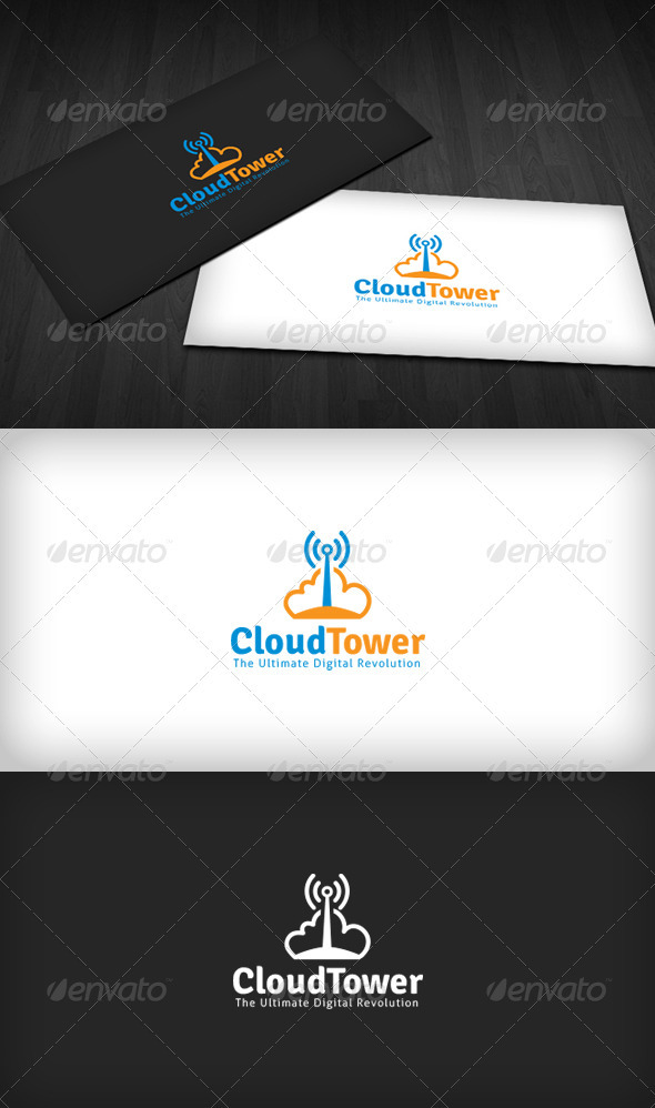 Cloud Tower Logo - Symbols Logo Templates