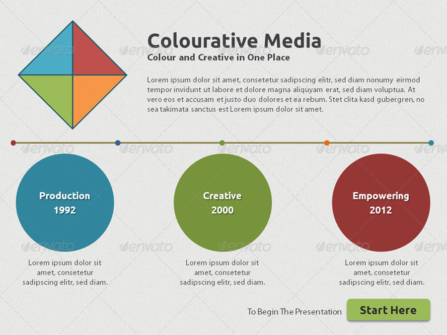 Colourative Media Presentation Template
