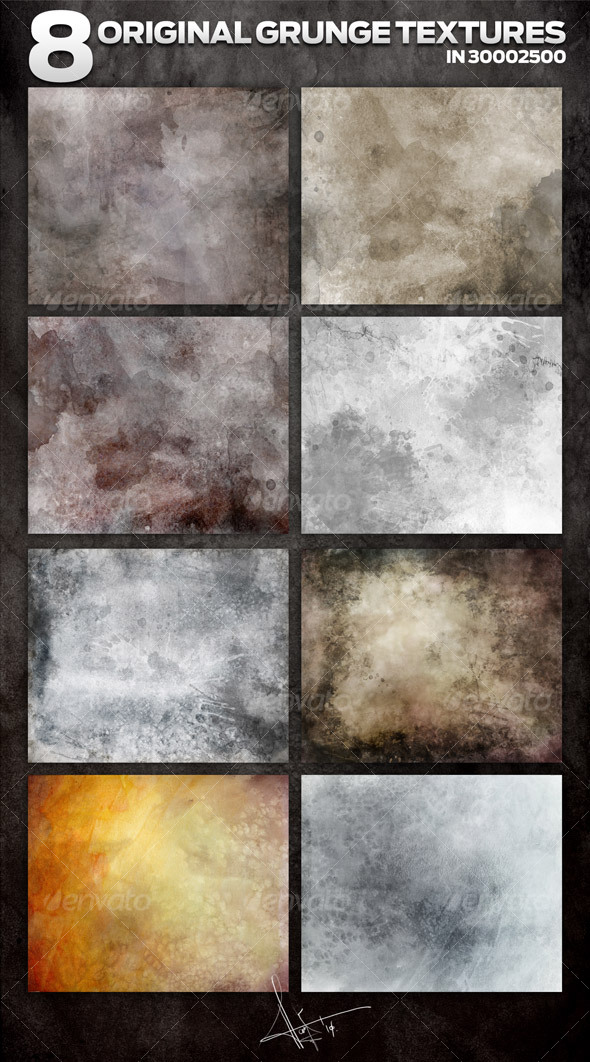 8 Original Grunge backgrounds - Backgrounds Graphics