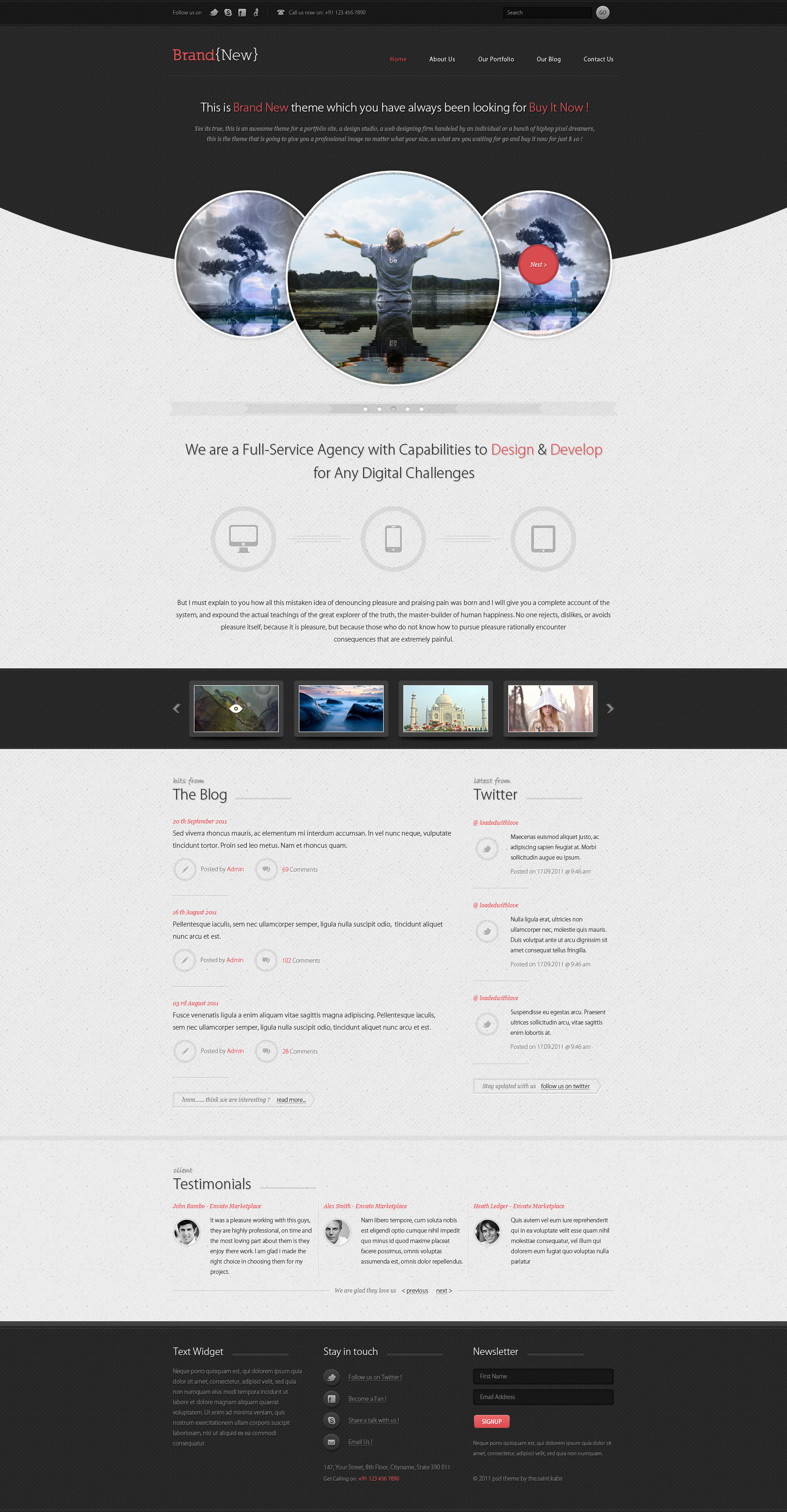 Brand New - An Exclusive WordPress Theme