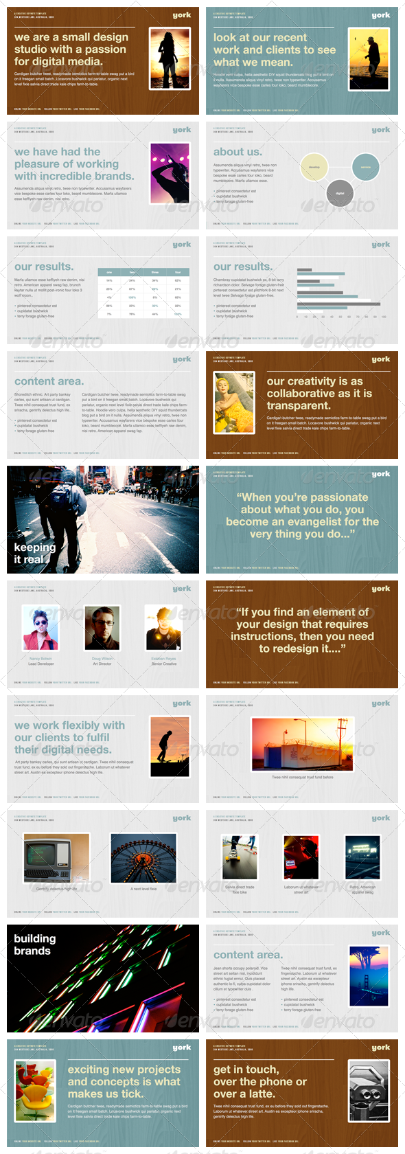 York - Keynote Presentation Template - Creative Keynote Templates