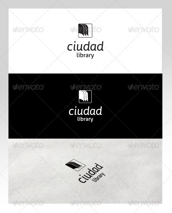 Book &amp; Library Logo Template - Objects Logo Templates